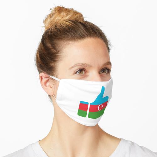 Daumen der Fahne Aserbaidschans Maske