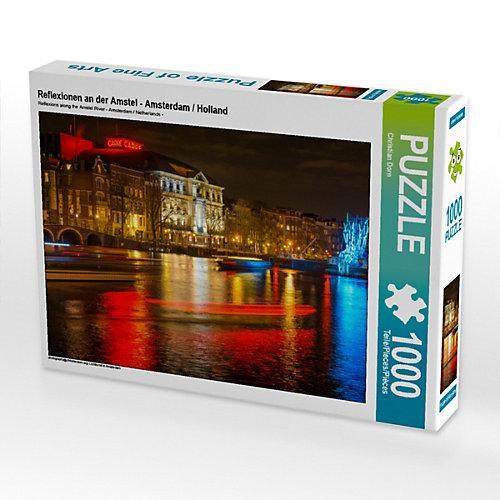 Reflexionen an der Amstel - Amsterdam / Holland Foto-Puzzle Bild von Christian Dorn Puzzle