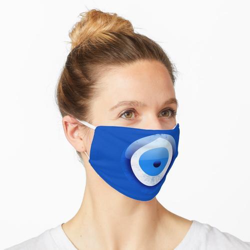 Böses Auge Charme blaues Motiv guter Karma-Schutz Maske