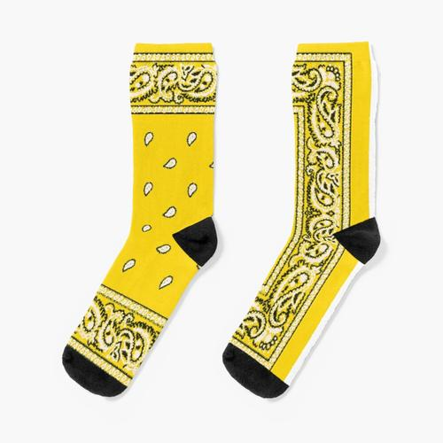 Gelbes Bandana Socken