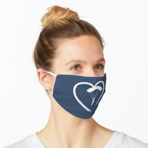 Fallschirmspringen Love - Fallschirm Herz Maske