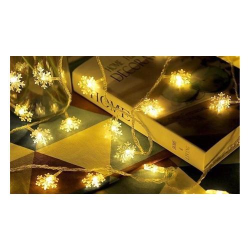 Weihnachts-Lichterkette: Sterne + Schneeflocken/ 1
