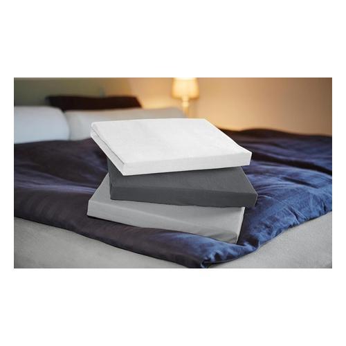 Jersey-Spannbettlaken: Hellgrau / 90-100 x 200 cm / 1