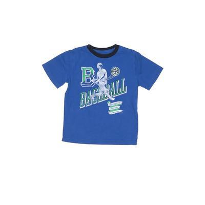 Gap Kids - Gap Kids Short Sleeve T-Shirt: Blue Solid Tops - Size 4
