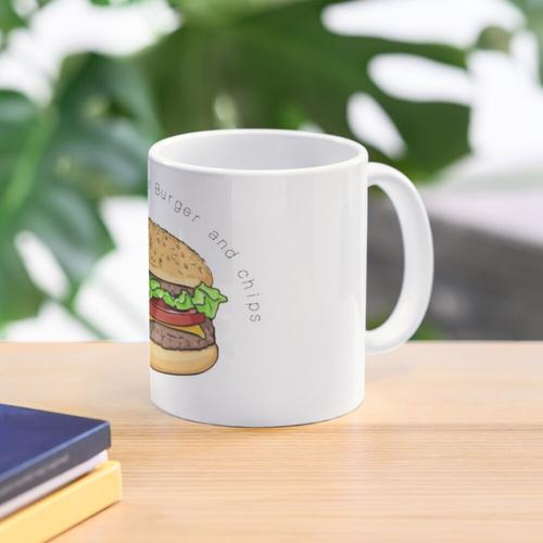 Only £5 chicken burger and chips Mug