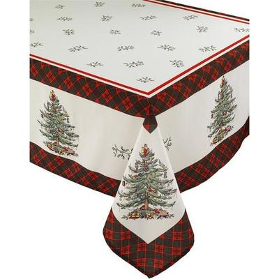 Spode Christmas Tree Tartan Tablecloth