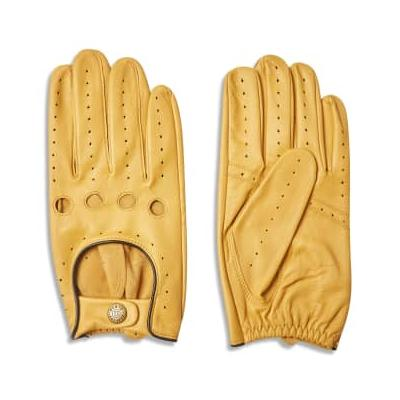 Dents - Delta Classic Leather Driving Gloves - Cork With Black - L