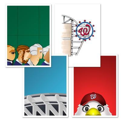 Washington Nationals 5'' x 7'' Postcard Set
