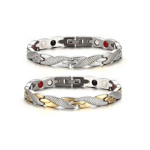 Magnetisches Armband: Silber und Gold-Silber / 2