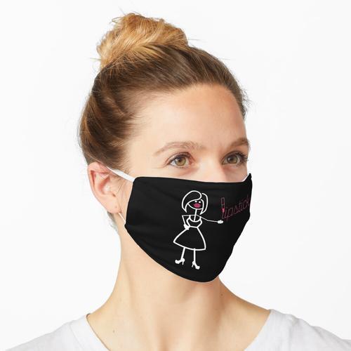 Lippenstift - Strichmännchen Humor Maske