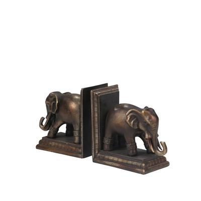 Polished Elephant Bookends - Sagebrook Home 11597