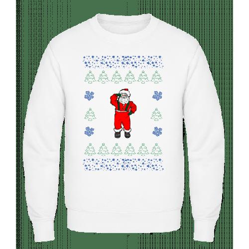 Weihnachtsmann Strickmuster - Männer Pullover