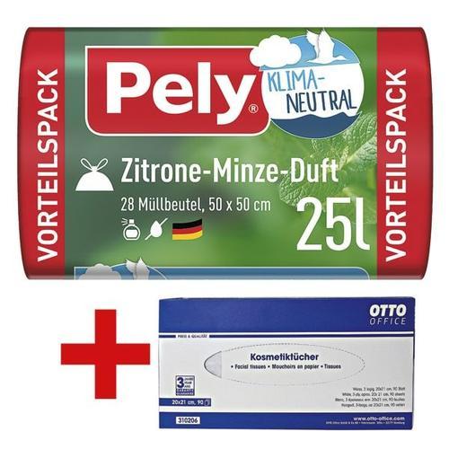 28 Klimaneutrale Duft-Müllbeutel »Zitrone-Minze« 25 l inkl. Kosmetiktücherbox, 9, Pely, 50x50 cm