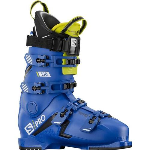 SALOMON Herren Skischuhe S/PRO 130 Bootfitter Friendly, Größe 28/28,5 in RACE BLUE/BLACK/Acid Green
