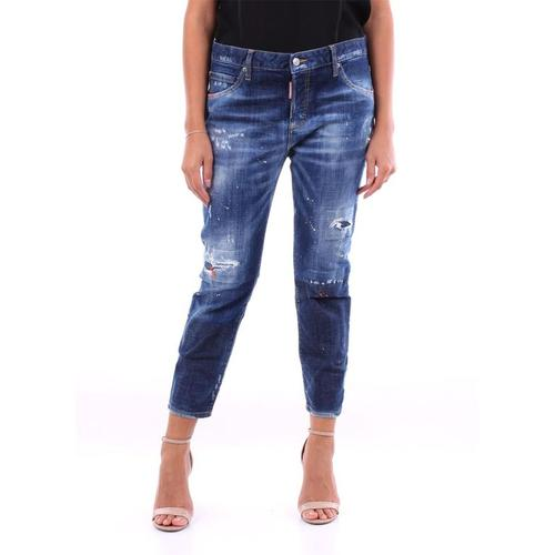 DSquared² Blau geschnittene jeans