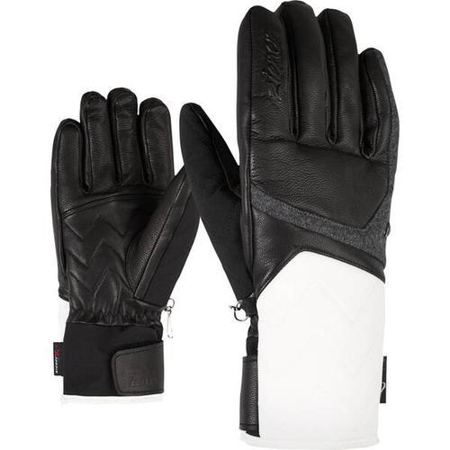 ZIENER Damen Handschuhe KRISTALL AS(R) AW, Größe 7 in white