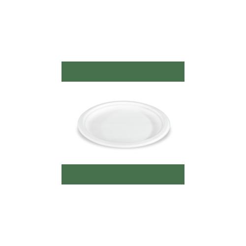 Teller aus Zuckerrohr, 23 cm