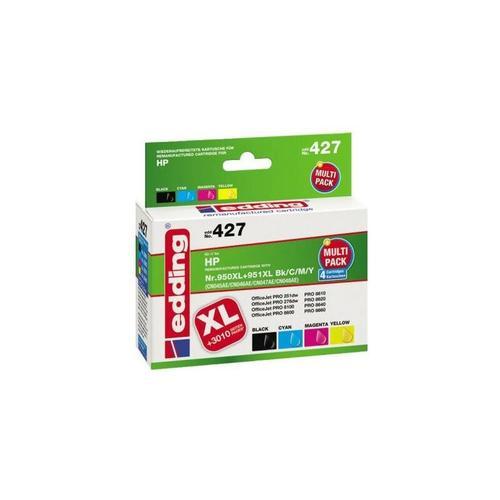 Tintenpatrone EDD-427, für HP 950XL/951XL (CN045/CN046/CN047/CN048), Multipack 4 - Edding