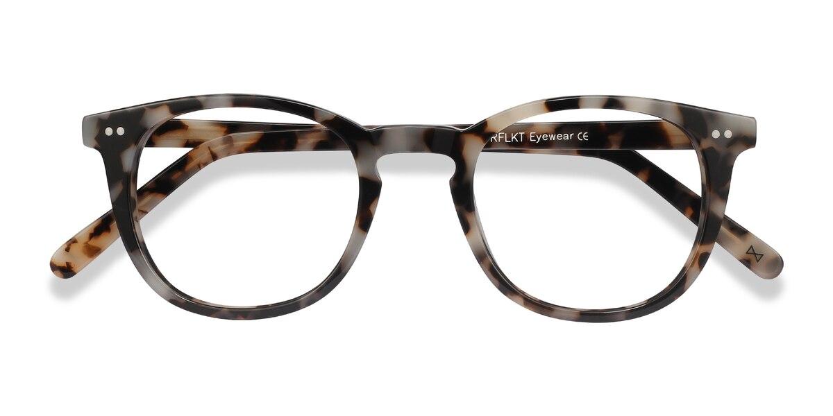 Female's Round Ivory Tortoise Acetate Prescription eyeglasses - EyeBuydirect's Ona