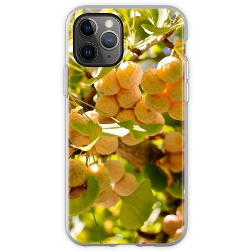 Ginkgobaum mit Obst Flexible Hülle für iPhone 11 Pro