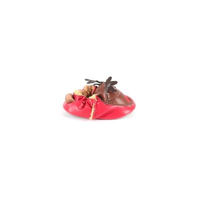 Mudpie Baby Booties: Red Solid S...