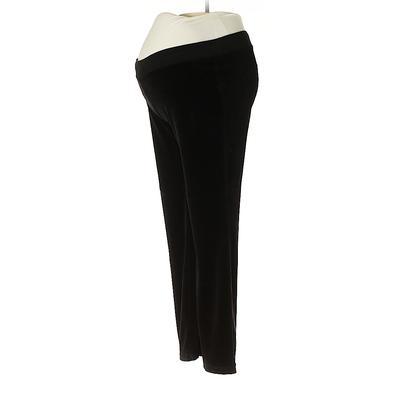 Motherhood Velour Pants - Mid/Reg Rise: Black Activewear - Size Medium Maternity