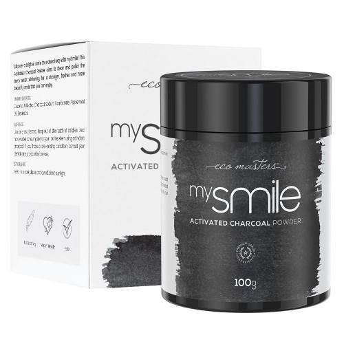 Mysmile Aktivkohlepulver zur Zahnaufhellung - 100g Pulver - Für natürlich hellere Zähne
