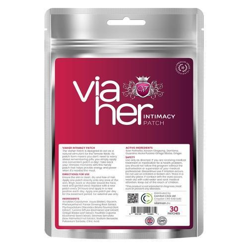 Viaher Intim Patches - 30 Pflaster - Verstärker für die weibliche Libido