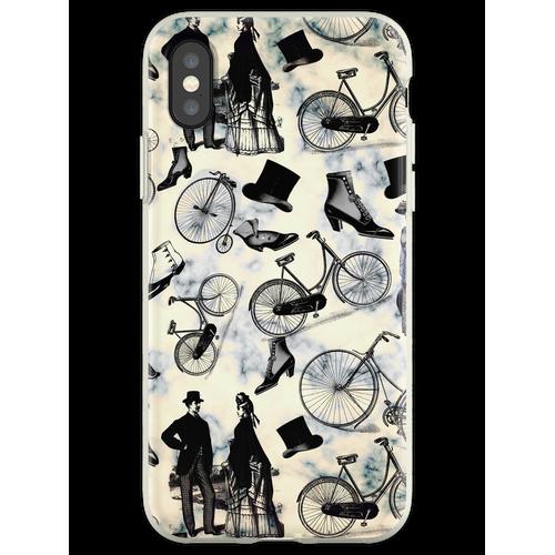 Viktorianische Fahrräder und Mode Flexible Hülle für iPhone XS