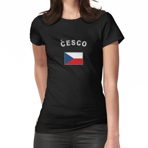 Tschechien tschechisch Flagge Fahne Frauen T-Shirt