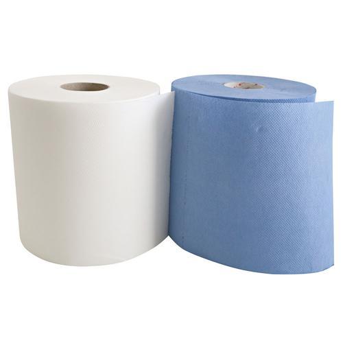 6 Rollen Papierhandtuch 2-lagig geprägt Blau Ø 20 cm Länge 25 cm Breite 20 cm Kern-Ø20 cm Papierhandtücher Handtücher Einweghandtuch Einmalhandtuch