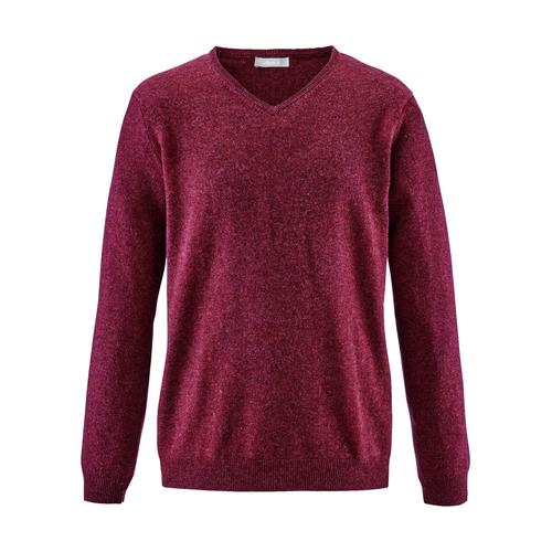Avena Herren Kaschmir-Seide-Premium Pullover Rot