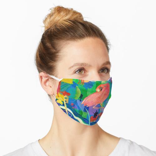 Patchwork Flamingo Maske