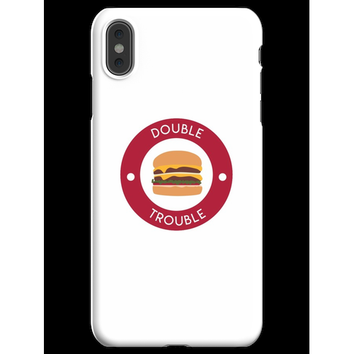 Doppelter doppelter Burger iPhone XS Max Handyhülle