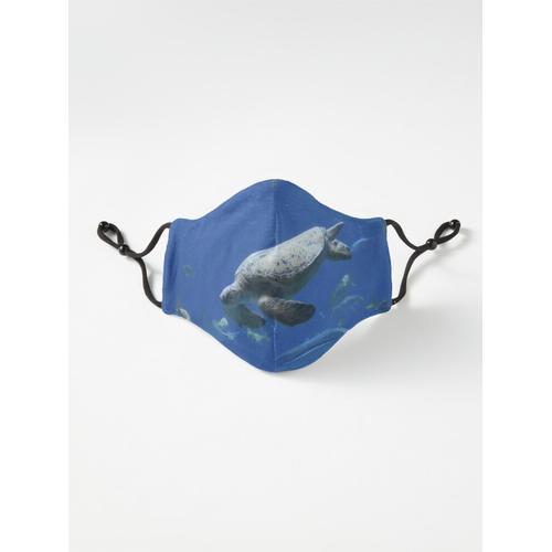 Meeresschildkröte im Georgia Aquarium Maske