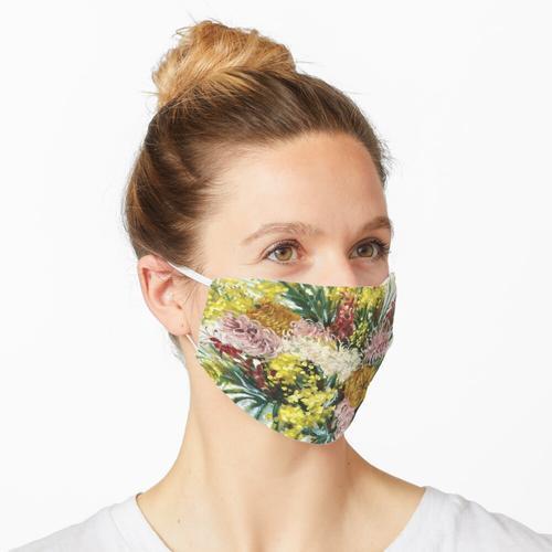 Australische einheimische Blumen in einer Vase Maske