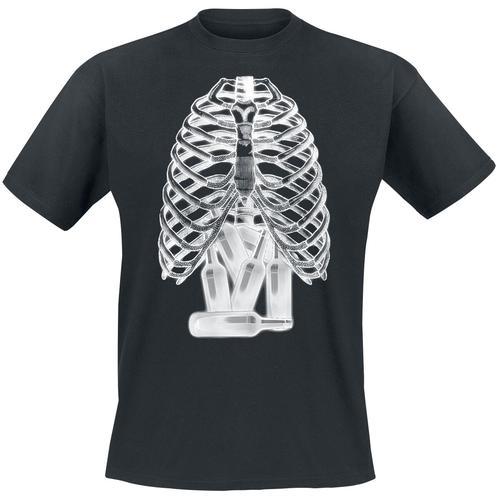 Röntgenbild - Bierflaschen Herren-T-Shirt - schwarz