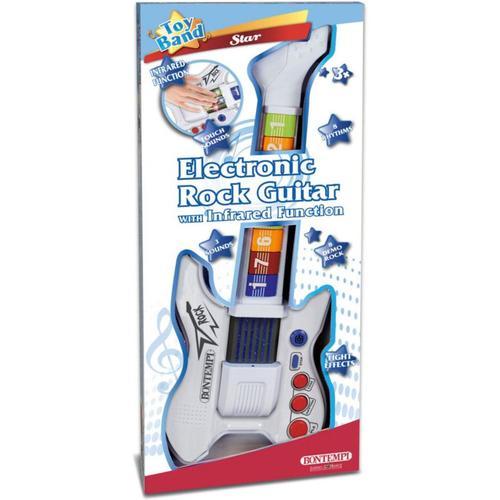 Elektronische Rock-Gitarre weiß