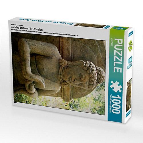 Buddha Statuen / CH-Version Lege-Größe 48 x 64 cm Foto-Puzzle Bild von JUSTART Puzzle