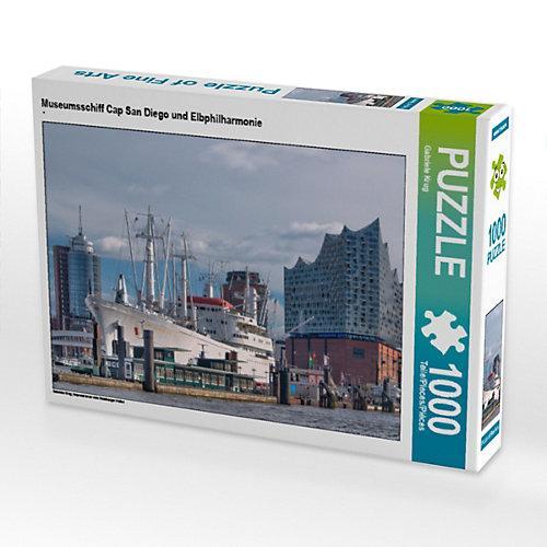 Museumsschiff Cap San Diego und Elbphilharmonie Foto-Puzzle Bild von Gabriele Krug Puzzle