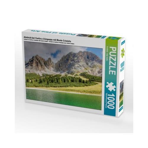 Almteich bei Cortina d Ampezzo mit Monte Cristallo Foto-Puzzle Bild von uwe vahle Puzzle