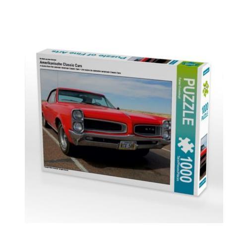 Amerikanische Classic Cars Foto-Puzzle Bild von gro Puzzle