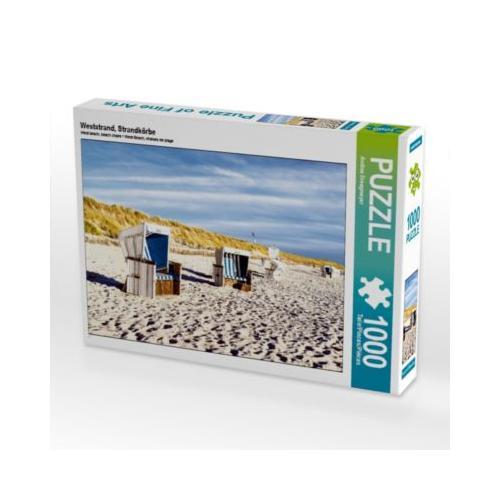 Weststrand, Strandkörbe Foto-Puzzle Bild von Andrea Dreegmeyer Puzzle