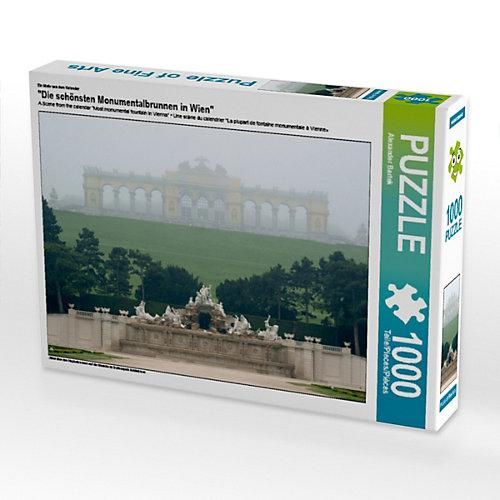 """""""""""""""""""""""Die schönsten Monumentalbrunnen in Wien"""""""" Foto-Puzzle Bild von Alexander Bartek Puzzle"""""""""""""""