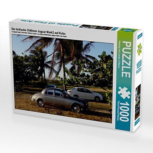 Der britische Oldtimer Jaguar Mark2 auf Kuba Foto-Puzzle Bild von Henning von Loewis of Menar Puzzle