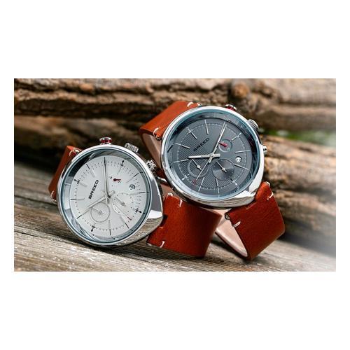 Breed Chronograph Watch mit Datum: Braun-Grau