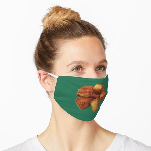Bratkartoffeln auf Grün Maske