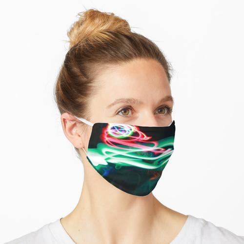 Neon Novum (Kunst mit Titeln) Maske
