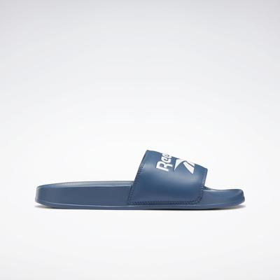 Reebok Unisex Classic Slide in Brave Blue/Brave Blue/White Size M 14 / W 15.5 - Casual,Lifestyle Shoes