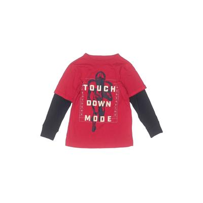The Children's Place - The Children's Place Long Sleeve T-Shirt: Red Solid Tops - Size 6
